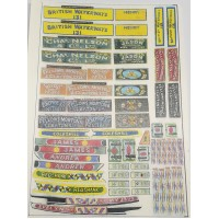 FT3 Canalboat Steamer Waterslide Transfers (OO Scale 1/76th)