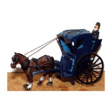 G10 Hansom cab (horse drawn) Unpainted Kit OO Scale 1:76