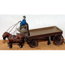 G11 2 horse Delivery Trolley Unpainted Kit OO Scale 1:76