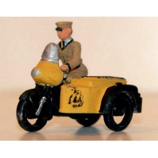 G12b AA Motorbike/sidecar & Riding Figure Unpainted Kit OO Scale 1:76