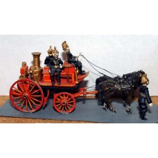 G17 Shand Mason Fire Engine & horses Unpainted Kit OO Scale 1:76