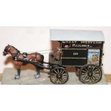 G23 4 wheeled Parcel Van - 1 horse Unpainted Kit OO Scale 1:76