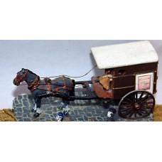 G24 2 wheeled Parcel Van - 1 horse Unpainted Kit OO Scale 1:76