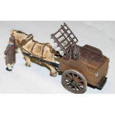 G31 NEW Horse Drawn Farm Hay cart Unpainted Kit OO Scale 1:76