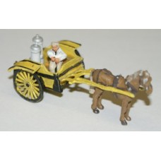 G32 NEW Drawn Milk Cart and Figure Unpainted Kit OO Scale 1:76