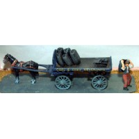 G3 Horse drawn Coal Cart Unpainted Kit OO Scale 1:76