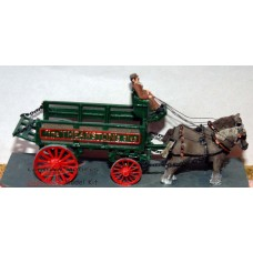 G4 Horse drawn Brewery Dray Unpainted Kit OO Scale 1:76