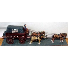 G5 3 horse Railway Delivery lorry (5 ton) Unpainted Kit OO Scale 1:76