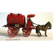 G7 Horse Drawn Tanker (milk or fuel artwork) Unpainted Kit OO Scale 1:76