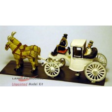 G8 Landulete- wedding carriage horse drawn Unpainted Kit OO Scale 1:76