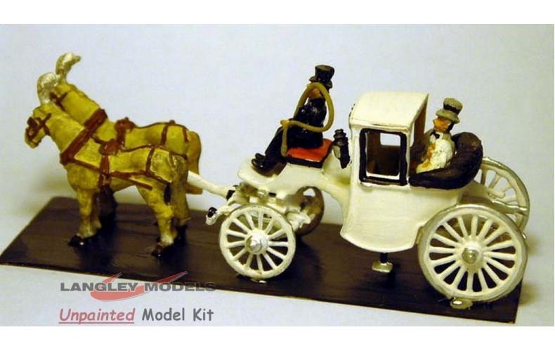 G8 Landulete- wedding carriage horse drawn Unpainted Kit OO Scale 1:76
