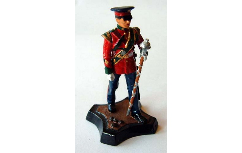 GB9p Worcester & Sherwood Foresters Drum Major GB9p Painted Model 54mm Scale