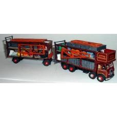 G91 Foden DG d/d dodgem lorry & d/d trailer Unpainted Kit OO Scale 1:76