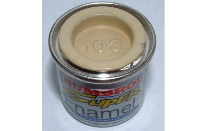 PP103 Humbrol Enamel Matt Paint Tinlet 14ml Code: 103 Cream