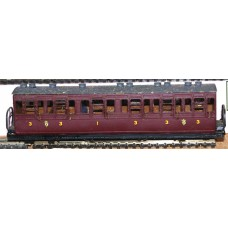 J11 Festiniog 1st/3rd Coach No. 17 or 18 Unpainted Kit OO Scale 1:76