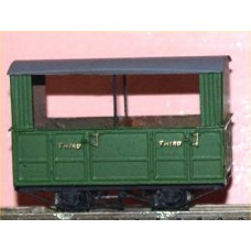J12 Glyn Valley Tramway Open 3rd Coach Unpainted Kit OO Scale 1:76