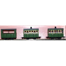 K10 Glyn Valley Coaches Set of 3 (1x1st, 2 x 3rd) (O scale 1/43rd)