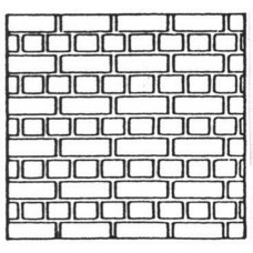 NV16 Embossed Brick Sheet Flemish Bond (N scale 1/148th)