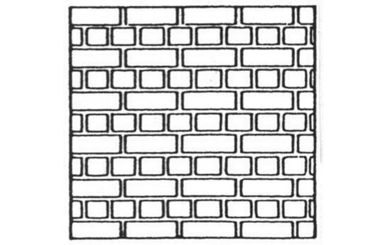 V106 English Bond Brick Sheet (OO Scale 1/76th)