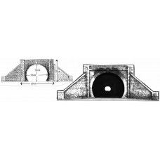 L15 Double Tunnel Mouth (twin track) Unpainted Kit O Scale 1:43