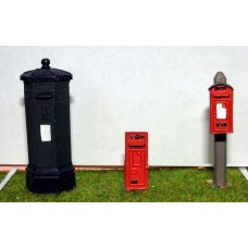 L1p Painted Victorian Pillar Boxes (O Scale 1/43rd)