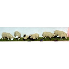 L20 Assorted Sheep & Lambs Unpainted Kit O Scale 1:43