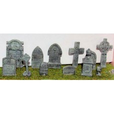 L25 Assorted Gravestones  Unpainted Kit O Scale 1:43