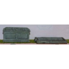 L25a Assorted Tombstones Unpainted Kit O Scale 1:43