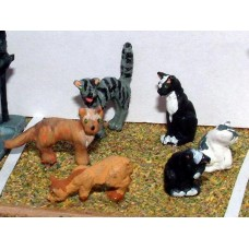 L26 6 Assorted Cats Unpainted Kit O Scale 1:43