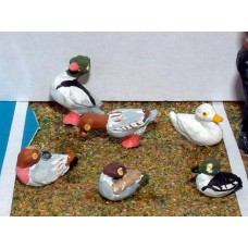 L27 6 Assorted Ducks Unpainted Kit O Scale 1:43