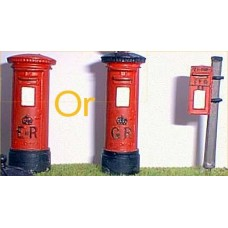 L2p Painted Modern Pillar Boxes (O scale 1/43rd)