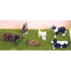 L30p Painted 7 x Dogs O Scale 1:43
