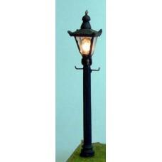 L35 Street Lamp-square Globe (illuminated kit)  Unpainted Kit O Scale 1:43