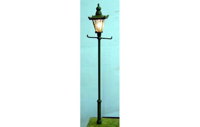 L37 Street lamp sq globe Vari height (work kit)  Unpainted Kit O Scale 1:43