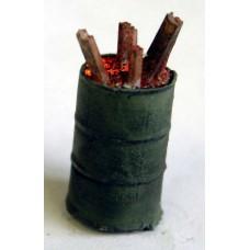 L39 Illuminated kit 'Burning Oil Drum' Unpainted Kit O Scale 1:43