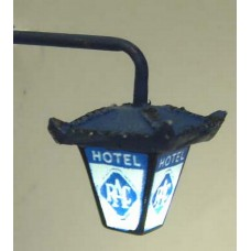 L40a Illuminated kit 'RAC Hotel' Wall Lamp Unpainted Kit O Scale 1:43