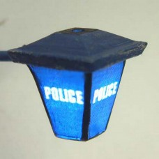 L41 Illuminated kit 'Police' Wall Lamp Unpainted Kit O Scale 1:43