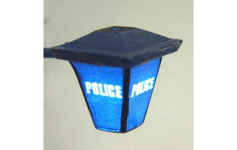 L41 Illuminated kit 'Police' Wall Lamp Unpainted Kit O Scale 1:43