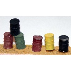L43 4 Oil Barrells (Oil drums lightweigh resin) Unpainted Kit O Scale 1:43