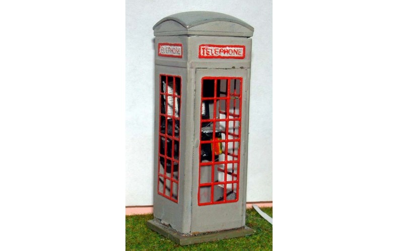 L4 Period Telephone box series 3 1929 on Unpainted Kit O Scale 1:43