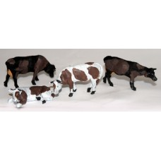 L50 2 assorted Cows (superlight resin) Unpainted Kit O Scale 1:43