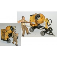 L51 Benford Cement Mixer (battered) + figure Unpainted Kit O Scale 1:43