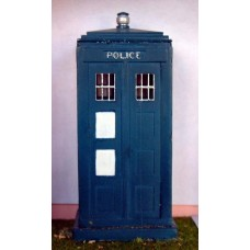 L5 Police Telephone box Unpainted Kit O Scale 1:43