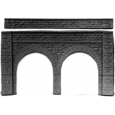 L8 Stone Viaduct 380mm x 214mm high Unpainted Kit O Scale 1:43