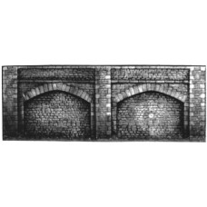 L9 2 Embankment Retaining walls 38x11cm Unpainted Kit O Scale 1:43