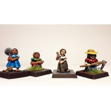 LMF14 Borderlands Halfling Females Unpainted 28mm Scale