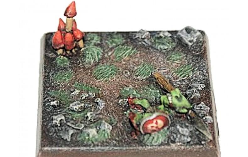 LMF6 Resin Base Mushroom dead Goblin Unpainted 28mm Scale