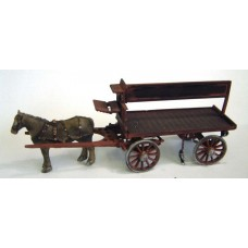 M22 Horse Drawn Coal Cart Unpainted Kit O Scale 1:43