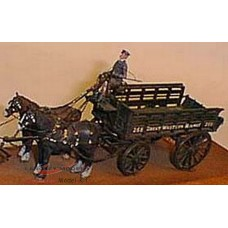 M2 G.W.R. 4.5ton Horse Drawn Wagon Unpainted Kit O Scale 1:43