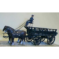 M3 L.M.S. 5ton Horse Drawn Wagon Unpainted Kit O Scale 1:43